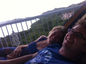 Hammock time on the balcony
